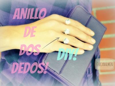 Anillo de dos dedos.DIY.Mon♥