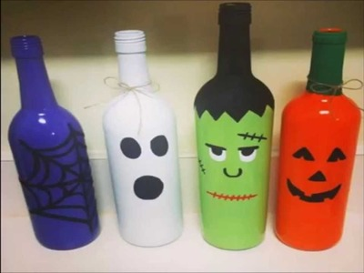 Botellas Recicladas Ideas de Manualidades para Halloween