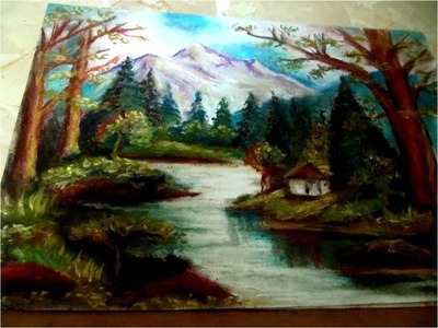 Clases de Dibujo y pintura paisaje con tiza pastel