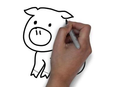 Cómo dibujar un cerdo
