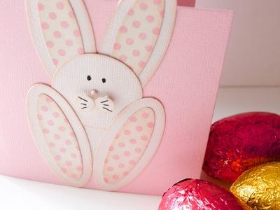 Cómo hacer la tarjeta conejo de pascua. Tutorial