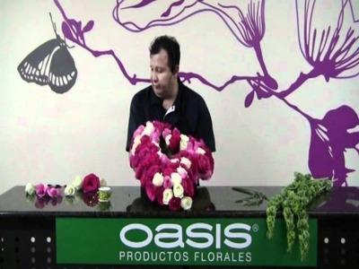 Como hacer un CORAZON DE FLORES (parte 3) terminar de colocar las flores
