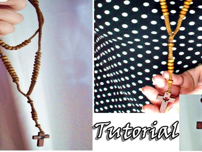 Como hacer un rosario en macrame ✝