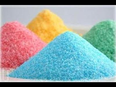 ★ Crea en casa azúcar de colores!! ★ FACIL Y RAPIDO!!