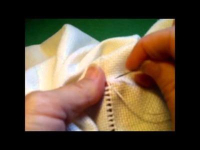 Curso de bordado básico 20: Dobladillo con vainica