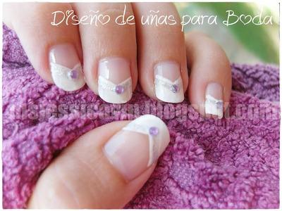 Diseño de uñas para Boda (para uñas largas)