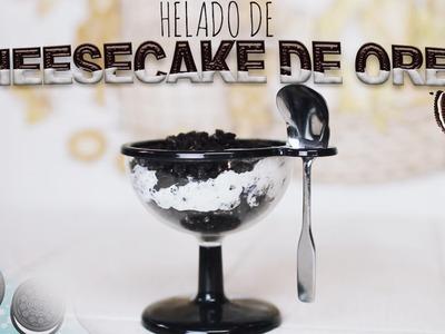 DIY: ¡Helado de cheesecake de oreo! (3 ingredientes) ♥ Jimena Aguilar