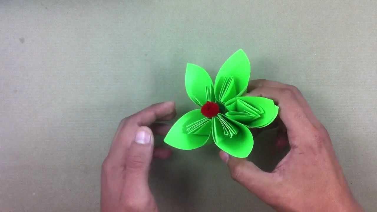 Hacer flor de papel - Manualidades en casa