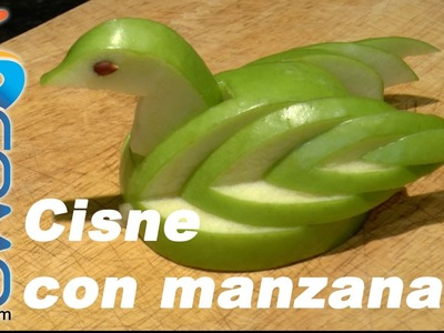 Hacer un cisne con una manzana - Apple Swan