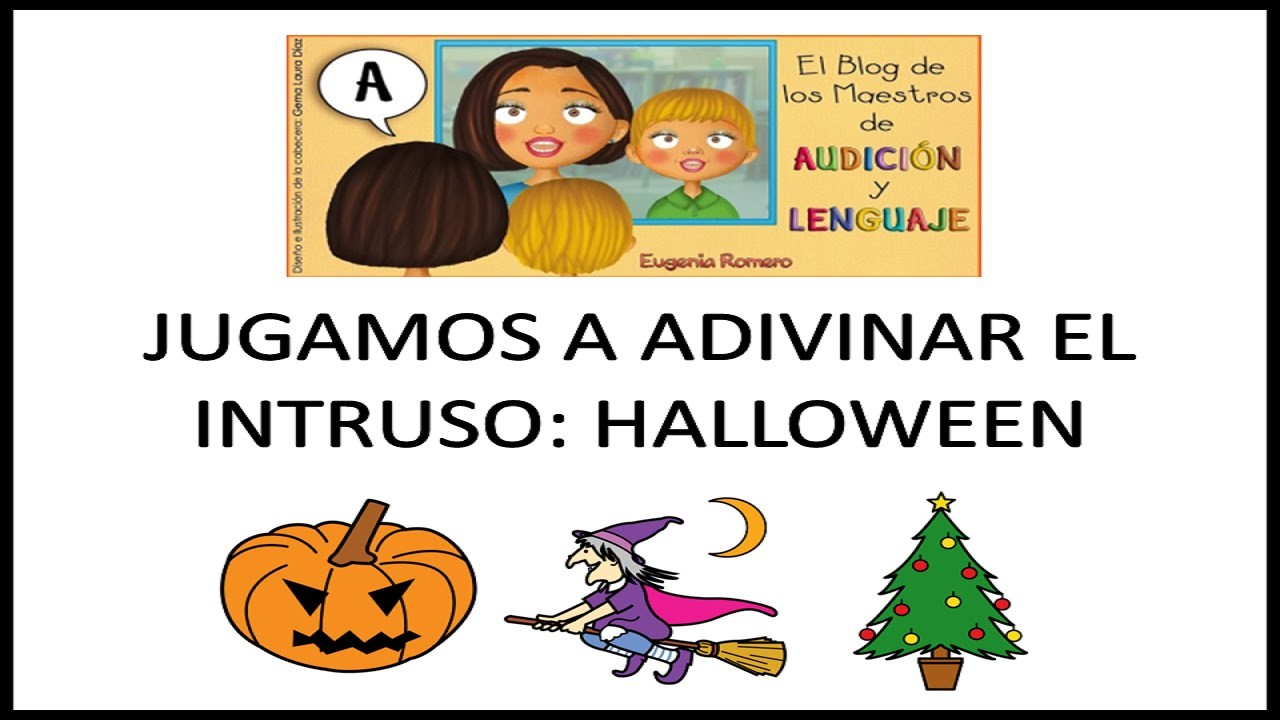 Jugamos a Adivinar el Intruso Halloween - Juego educativo para niños