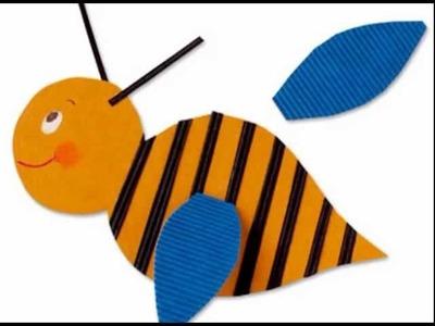 Manualidades para niños: abeja de cartulina