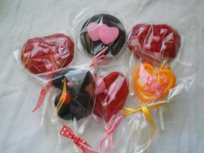 """""""paletas de chocolate, un lindo detalle para el día de san valentin"""""""