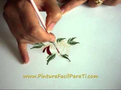 Pintura Flores Hindeloopen 2 Pintura Facil Para Ti.wmv