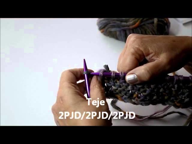 Tutorial cómo tejer Punto Ondas 2 colores - Pearl Knitter