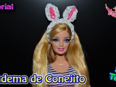 ♥ Tutorial: Diadema de Conejito de gomitas para Muñecas (sin telar) ♥