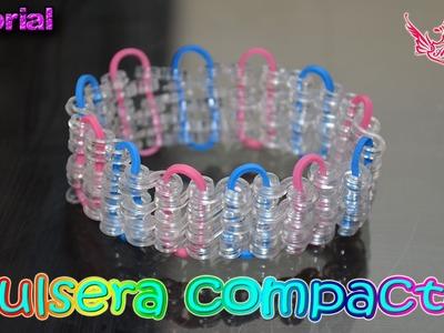 ♥ Tutorial: Pulsera Compacta (sin telar) ♥