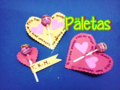 VideoFugaz: Paletas con mensaje para regalar san valentin