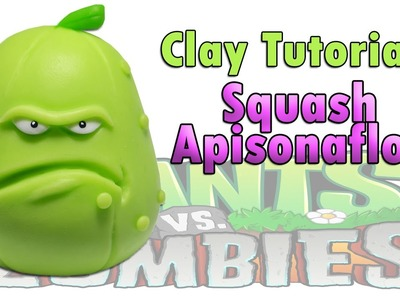 Apisonaflor. Squash Tutorial Clay. Plasticina. Porcelana fria