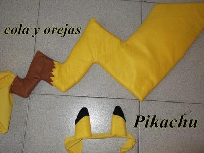 Cola y orejas de Pikachu (Tutorial)