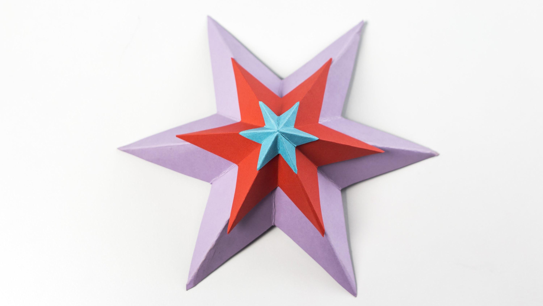 Cómo hacer estrella decorativa en 3D