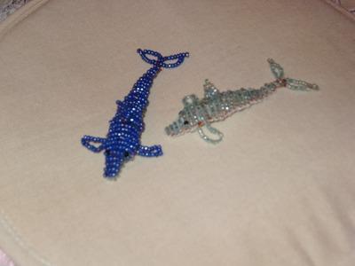 Cómo hacer un delfín con chaquira 1 de 2.