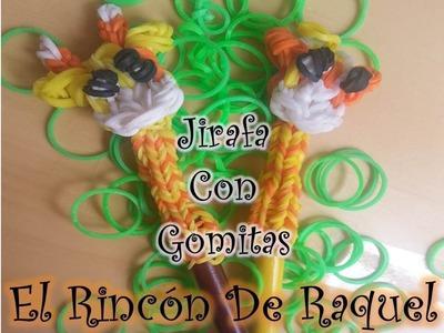 Como hacer una jirafa con gomitas rainbow loom