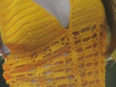 Como tejer blusa punto calado a crochet