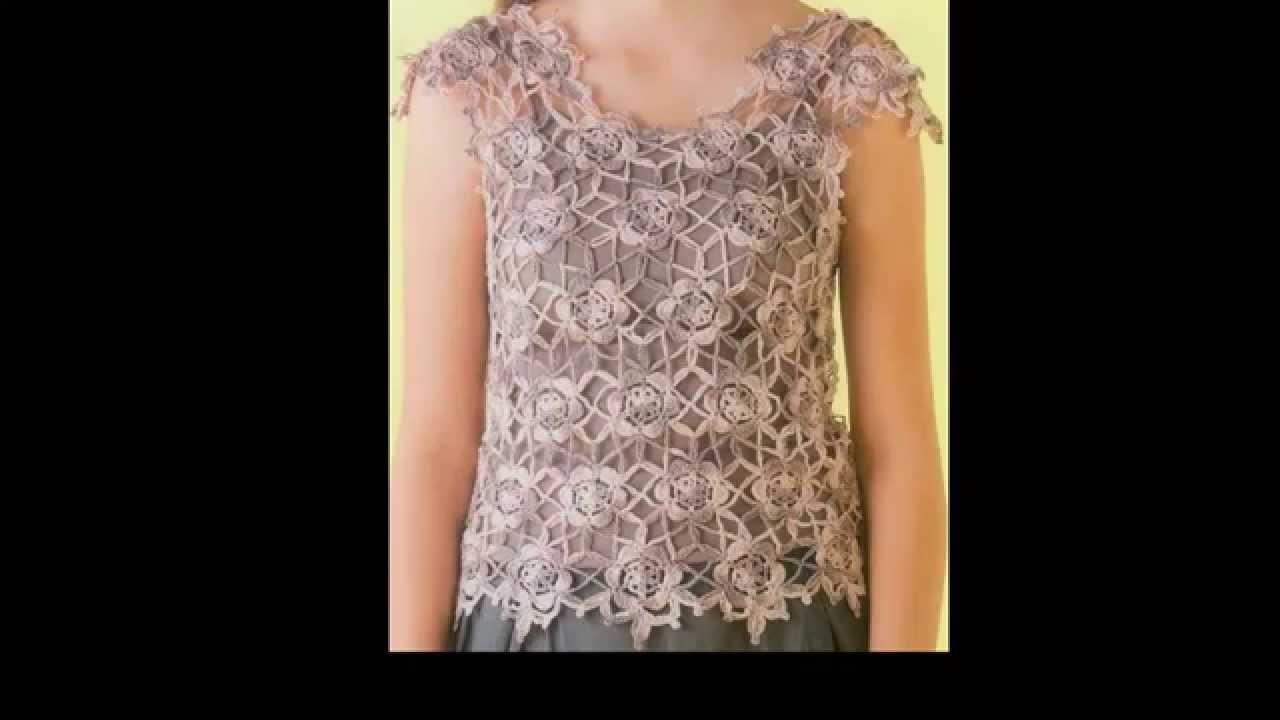 Crochet unión de Florecitas Para Blusa Fácil