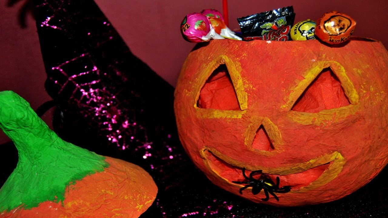 DIY : Calabaza Halloween Papel Maché - Brotes De Creatividad