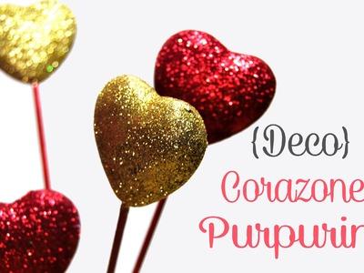 DIY: Corazones Purpurina Para San Valentin - Brotes De Creatividad