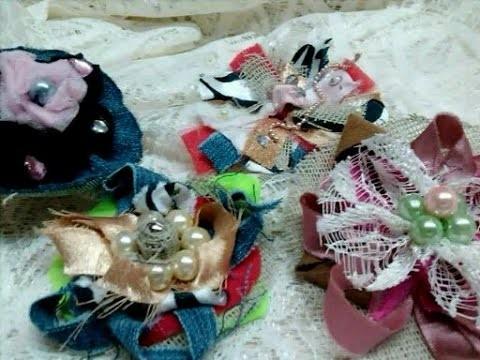 DIY Moños con retazos de tela. Recycling fabric scraps
