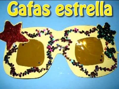 Gafas de estrella Lady Gaga. Disfraces caseros de carnaval