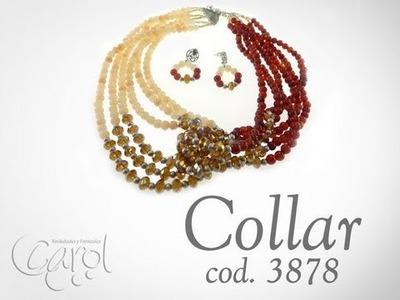 Kit 3876 Kit collar agata roja y murano x und