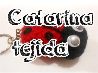 Llaveros de catarinas tejidas a Crochet - Loreniaolivas