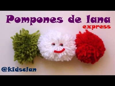Manualidad express - Pompones de lana