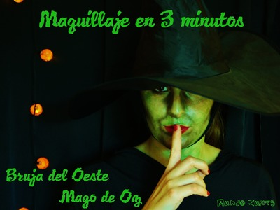 Maquillaje Halloween Bruja del Oeste, Mago de Oz - Make up Wicked Witch of the West, Wizard of Oz