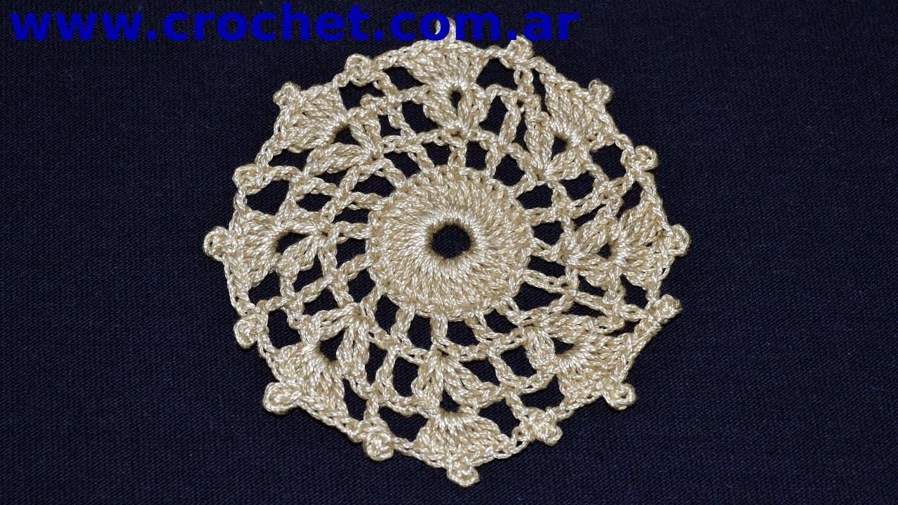 Mini Carpetita en tejido crochet tutorial paso a paso.