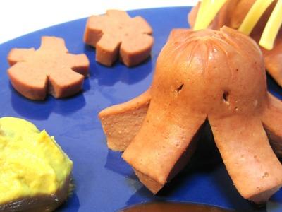 Receta: Pasta con salchichas (creativo).  Ideal para niños.as.