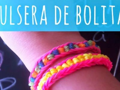 Tutorial. Cómo hacer PULSERAS DE GOMITAS O LIGAS con BOLITAS *** Modelo  (Illusion bracelet)***