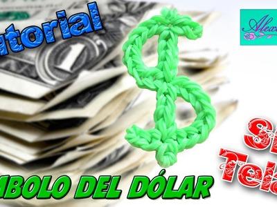 ♥ Tutorial: Símbolo del Dólar de gomitas (sin telar) ♥