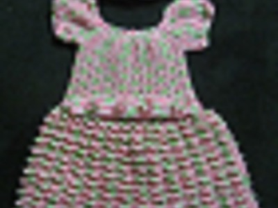 Vestido De Niña Con Cinto Y Gorra De Crochet parte 1