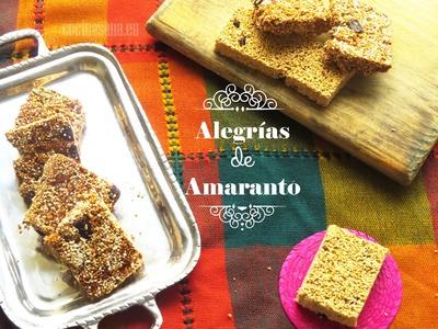 Alegrías de Amaranto: Como preparar este dulce típico paso a paso