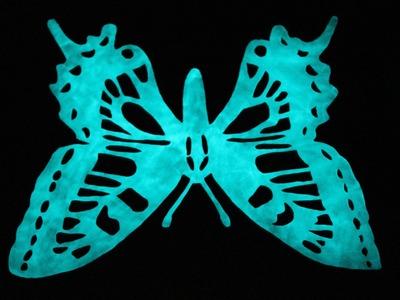 AQl. COMO HACER. dibujo en espejo con pintura fotoluminiscente