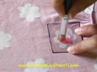 Camisetas con Flores 2 - Pintura Facil Para Ti.wmv