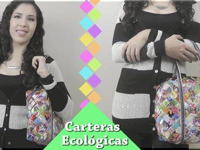 Carteras ecológicas parte 4: Coser las correas y el zipper
