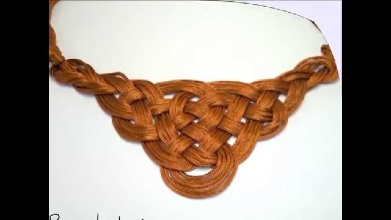 Como hacer collar con Nudo celta de Reina Ginebra.DIY Collar Guinever.