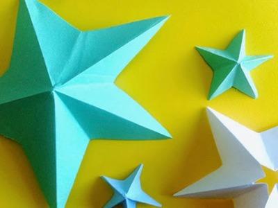 Como hacer estrellas de papel de 5 puntas