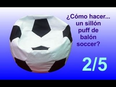 ¿Cómo hacer.  un sillón puff balón soccer? - 2.5 Trazando y cortando los moldes