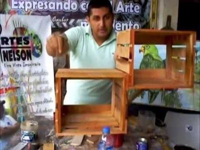Como hacer una Repisa Estantería o armario con madera reciclada (FACILITO)