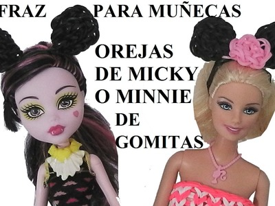 COMO HACER UNAS OREJAS DE MINNIE O MICKEY MOUSE PARA DISFRAZ DE MUÑECAS BARBIE O MONSTER HIGH